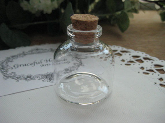 20ml Narrow Neck Glass Bottle - 37D)x40(H)mm #NN3740125 --FREE SHIPPING