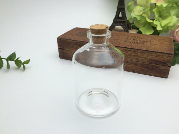 80ml Narrow Neck Glass Bottle - 47(D)x75(H)mm #NN4775125 --FREE SHIPPING