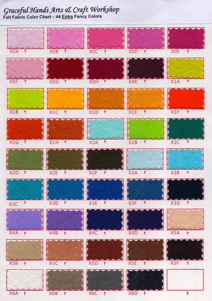 "FREE SHIPPING - 88 pcs All Color Set Special Package - Polyester Felt Fabric - 12"" x 12 "" (30 x 30cm)"
