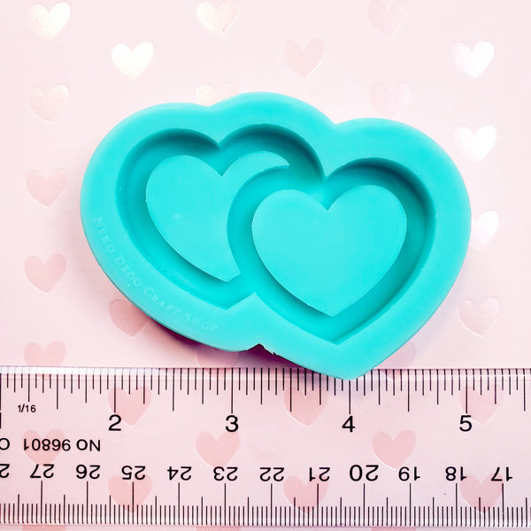 (PRE-ORDER) Small Silicone Mold: Double Heart Shaker