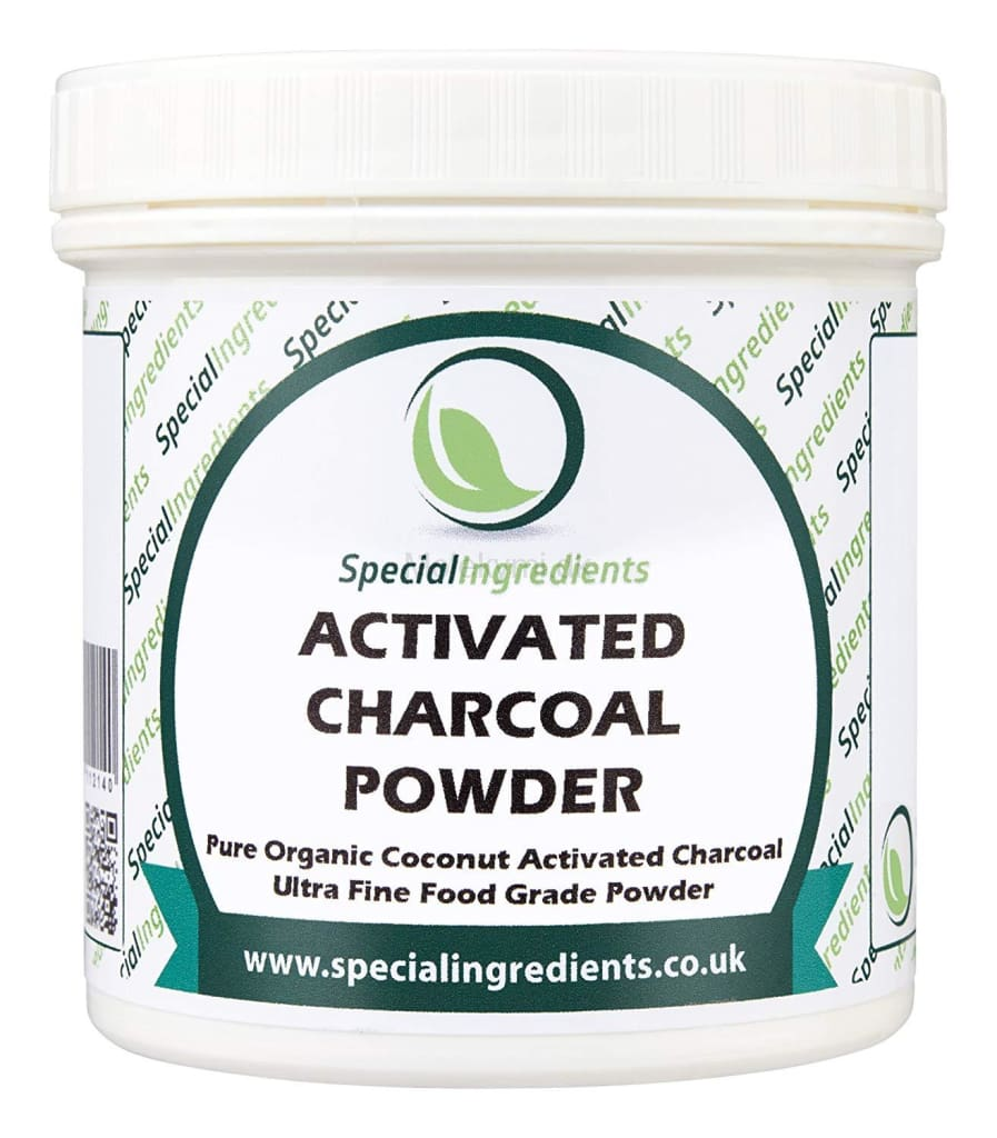Activated charcoal powder / Aktivt kul pulver