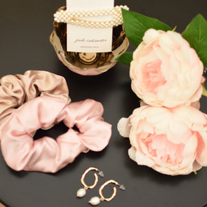 Thick Mulberry Silk Scrunchie - Blush