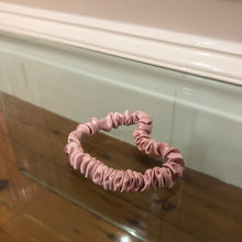 Load image into Gallery viewer, Skinny Mulberry Silk Scrunchie - Blush