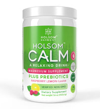 Load image into Gallery viewer, Holsom Calm, Magnesium Anti Stress Powder with Probiotics, Sweet Lemon - 16 oz