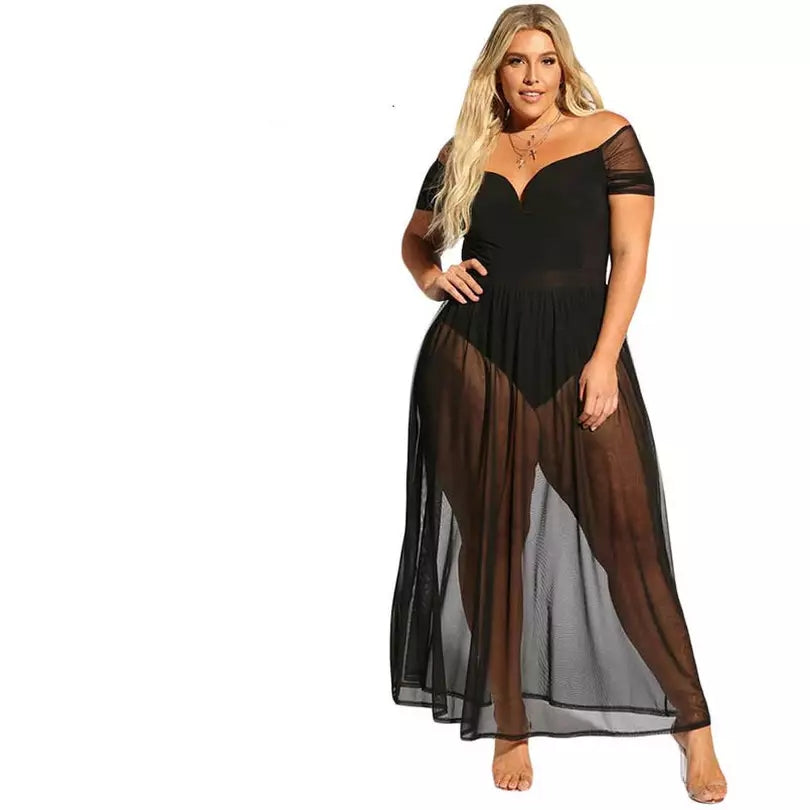 Plus Size Hollow Out Summer Dress