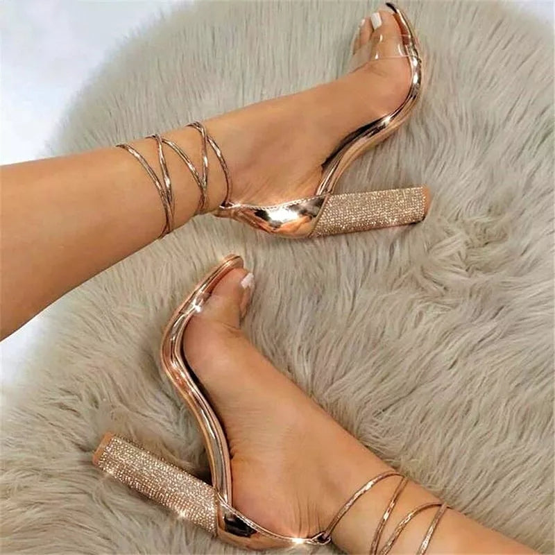 """Hottest"" Square Heeled Sandals"
