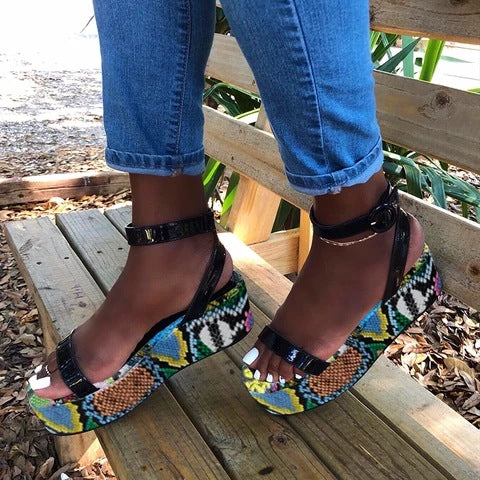 """So So"" Colourful Gladiators Sandals"