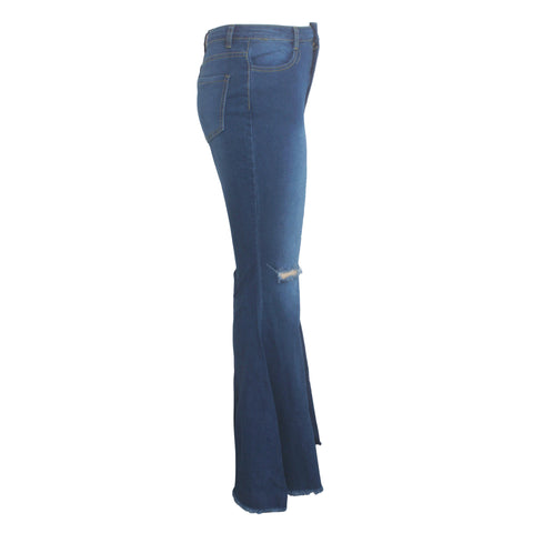 Sexy High Rise Cropped Flare Jeans Pants
