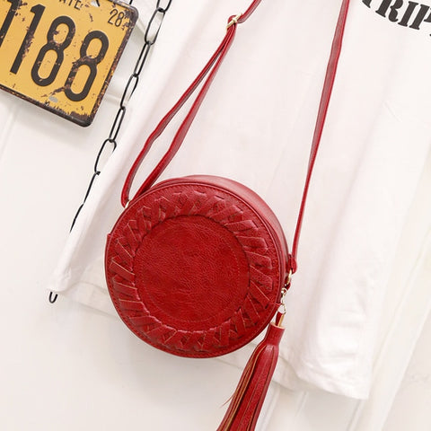 """lovely"" Woman Round Casual Shoulder Bag"