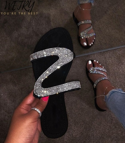 Diamond women slippers