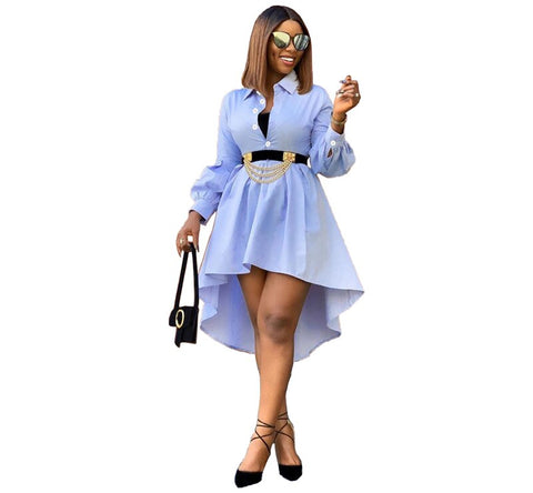 Lovely Long Sleeve Shirt Dress