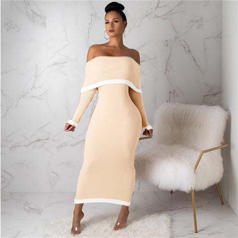 Sexy Off Shoulder winter dress