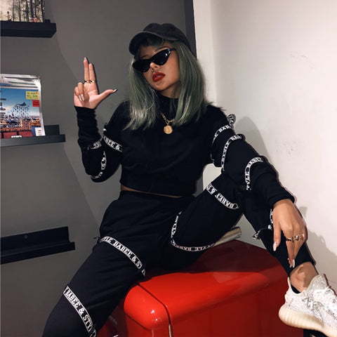 Winter Long Sleeve Punk sport Suit