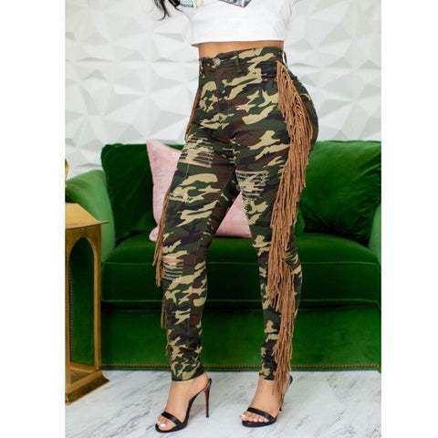 Winter Camouflage Denim Pants