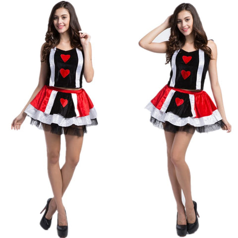 Poker Red Queen of Hearts Costume