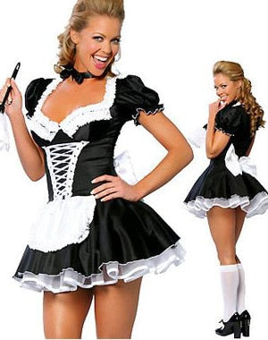 Late Night French Maid Servant Costume