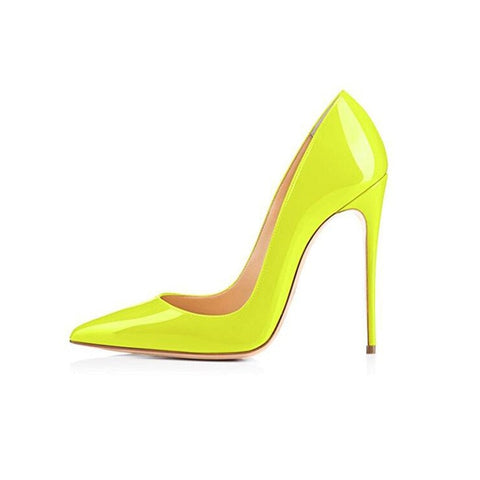 Fluorescent yellow High Heels Shoes - So So Boujee