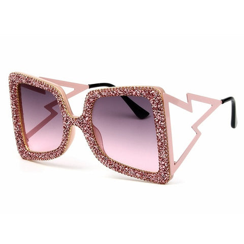 Temple Bling Stones sunglasses