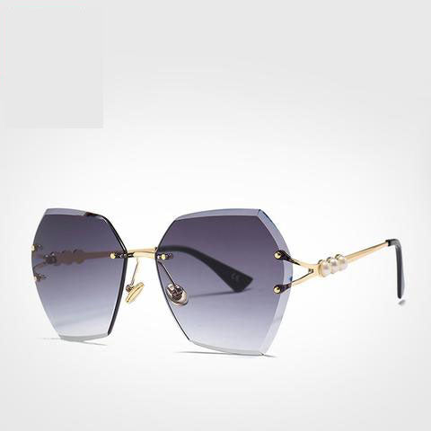 DENISA  Rimless Pearl Sunglasses - So So Boujee