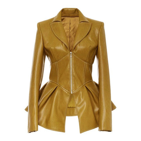 Women Winter Autumn Fashion Motorcycle Jacket