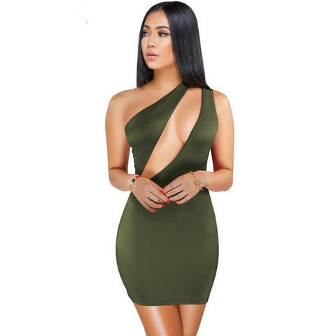 One Shoulder Backless Bodycon - So So Boujee