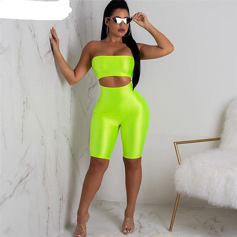 Sexy  Neon Green Party Club Bodycon - So So Boujee