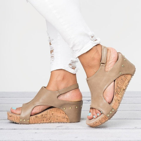 """Lola"" Sexy Wedge Sandals - So So Boujee"