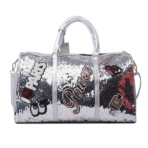 Casual Sequins Letters Bag