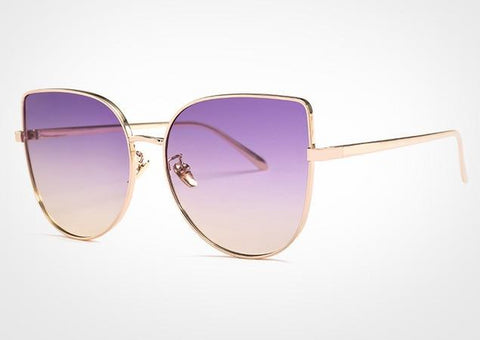 DENISA Pink Yellow Gradient Sunglasses - So So Boujee