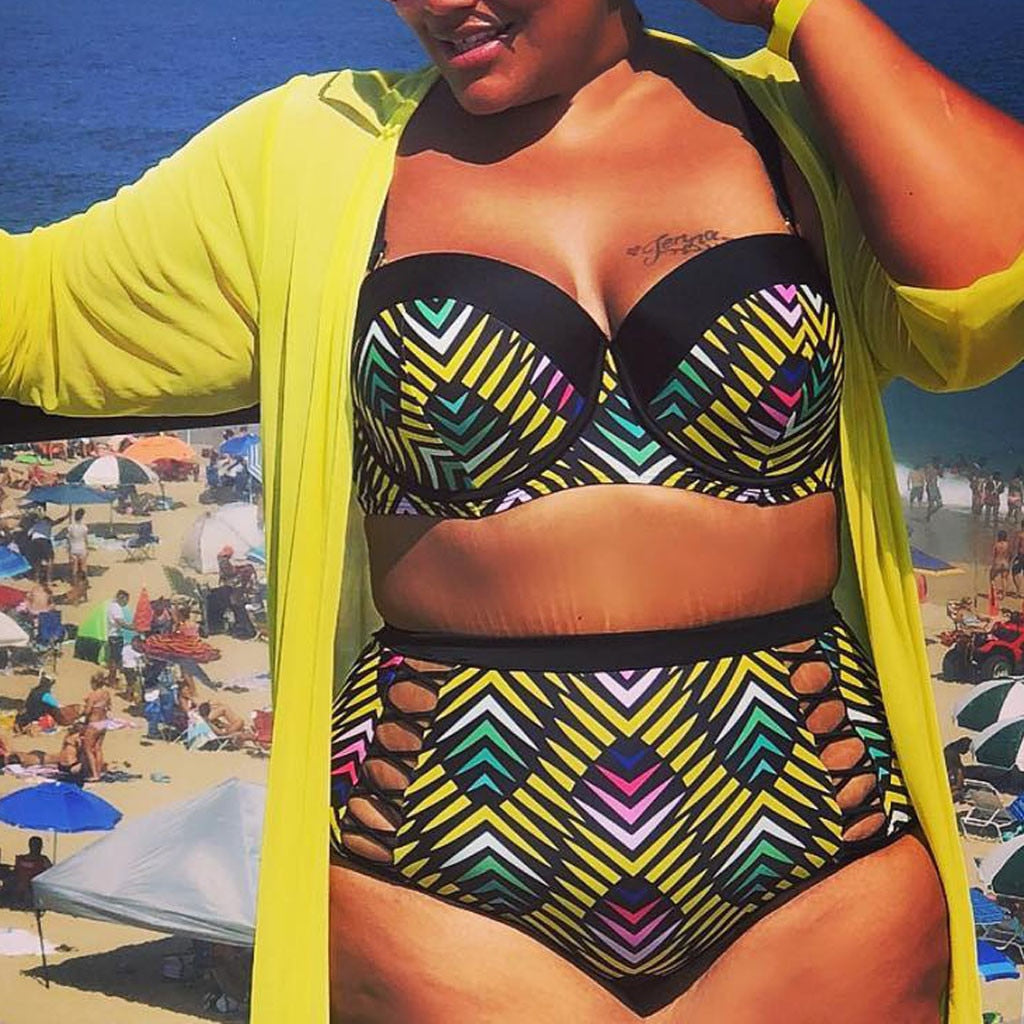 Plus Size Swim Set With Cover-Up