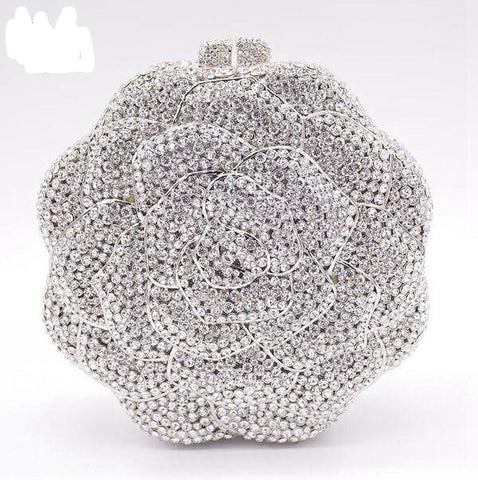 Crystal Rose Diamond Handbag - So So Boujee