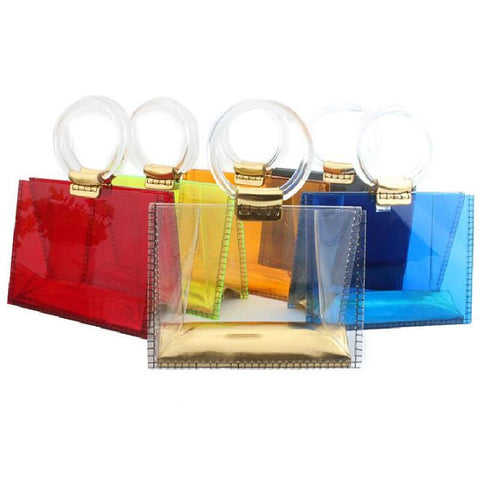 acrylic transparent  handbag - So So Boujee
