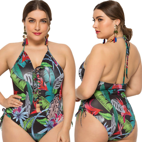 Floral Print Bathing Suit