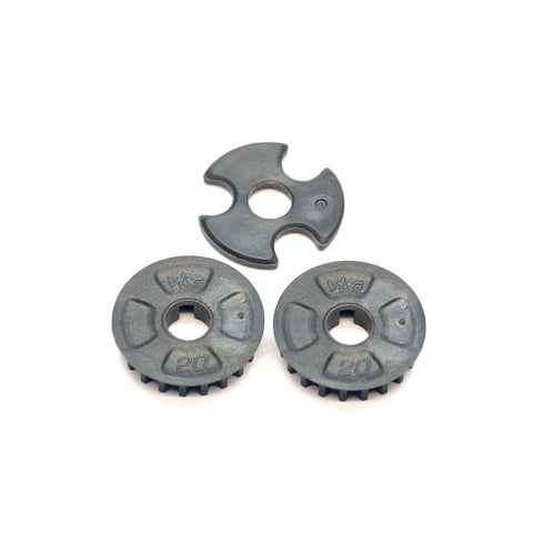 VBC Racing WildFire 20T Center Pulley/Pulley Spacer Set D-05-VBC-0039