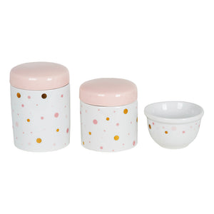 KIT HIGIENE 3PC POA ROSA E DOURADO