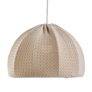 LUSTRE DOMO RIAN TRICOT BEGE NINIVE D,40CM