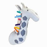 CABE�A DECORATIVA GIRAFA COLORIDA