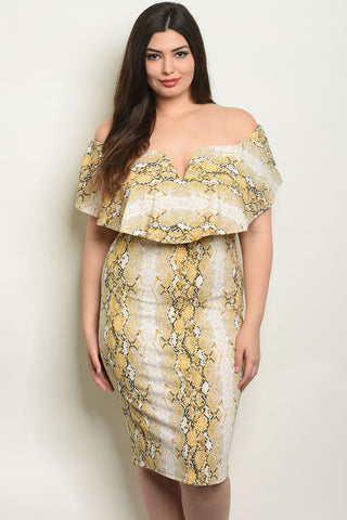 Picture of BEAUTIFUL OFF SHOULDER PLUS SIZE DRESS