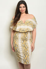 BEAUTIFUL OFF SHOULDER PLUS SIZE DRESS