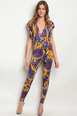 Picture of Beautiful Fitted Multicolor Long sleeve Jumpsuit