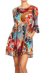 BEAUTIFUL MULTI COLOR LOOSE FIT DRESS