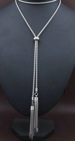 Picture of ELEGANT STAINLESS STEEL LONG TASSEL NECKLACE