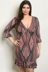 Beautiful sexy multicolor statement  plus size Dress