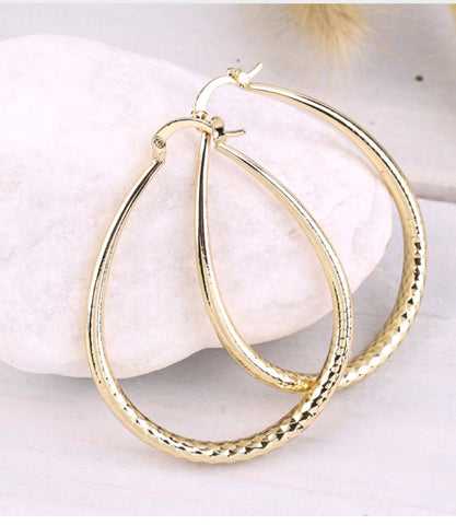 Picture of GOLD FILLED OVAL HOOP EARRINGS
