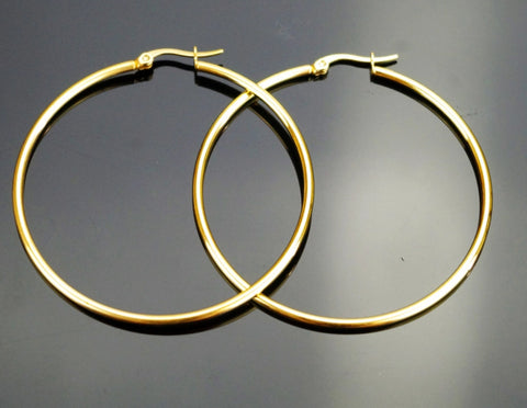 Picture of LARGE FLAT GOLD FILLED HOOP EARRING