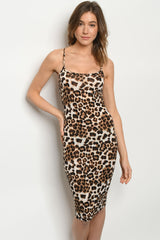 Leopard Print Bodycon pencil dress