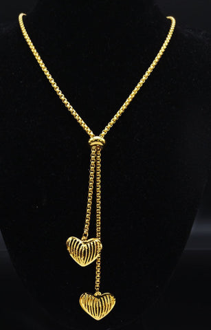 Picture of NCC9-GOLD STAINLESS STEEL NECKLACE WITH SLIDER