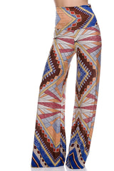 Abstract Printed High Waist Palazzo Pants