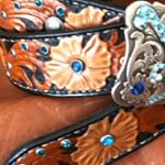 Load image into Gallery viewer, Custom Tooled Leather Belt