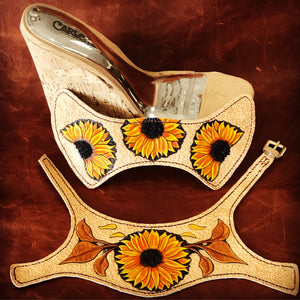 Sunflower Wedge Sandals